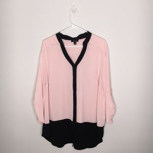 ALYX | SIZE 2X | PINK AND BLACK BLOUSE | EUC